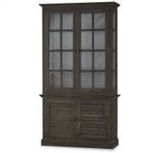2 Door Cottage Cabinet w/ Glass - BRS