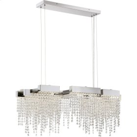 Crystal Falls Island Chandelier in Polished Nickel