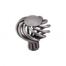Round Large Twist Knob 1 1/2 Inch - Pewter