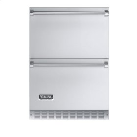 """Stainless Steel 24"""" Outdoor Refrigerated Drawer - VURD (Professional model)"""