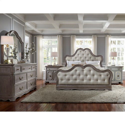 Simply Charming King / Cal King Tufted Upholstered Footboard with Slats