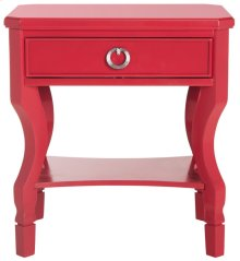 Alaia One Drawer Night Stand - Red