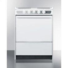 "Slide-in Electric Range In Slim 24"" Width With White Porcelain Construction"
