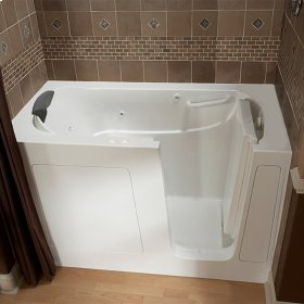 Premium Series 30x60 Combo Massage Walk-in Tub, Right Drain  American Standard - White