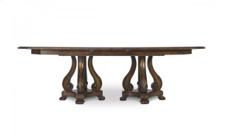 Continental Double Pedestal Dining Table - Weathered Nutmeg