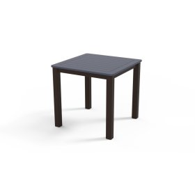 """Marine Grade Polymer Top Table 21"""" Square End Table"""
