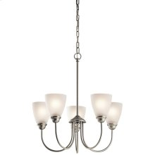 Jolie Collection Jolie 5 Light Chandelier - Brushed Nickel NI