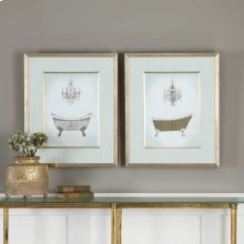 Gilded Bath Framed Prints, S/2