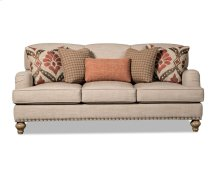 Shaped Back Sofa with English Arms