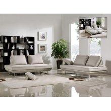 Divani Casa Radford Modern Grey Fabric Sofa Bed Set