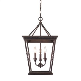 Davenport 3 Light Pendant in Etruscan Bronze