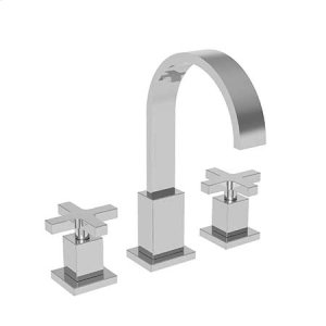 Matte White Widespread Lavatory Faucet