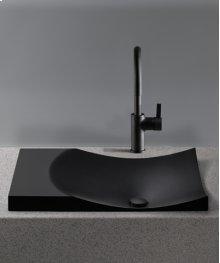 Tuxedo Black Waza® Noir Cast Iron Self-Rimming Lavatory
