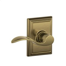 Accent Lever with Addison trim Hall & Closet Lock - Antique Brass