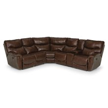 836 Leather Reclining Sectional