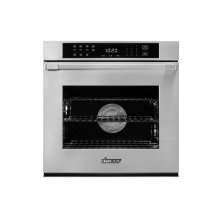 """Heritage 27"""" Single Wall Oven, Silver Stainless Steel with Flush Handle"""