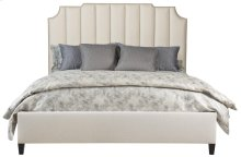 Queen-Sized Bayonne Upholstered Bed (Low Footboard) in Espresso