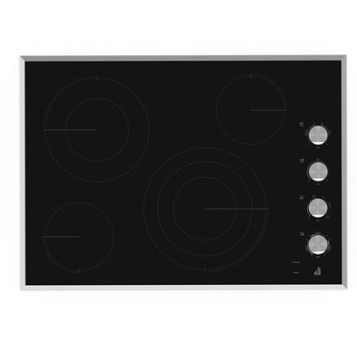 "Jenn-Air® Lustre Stainless 30"" Electric Radiant Cooktop - Stainless Steel"