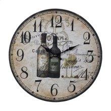 FRENCH WINE BOTTLES CLOCK