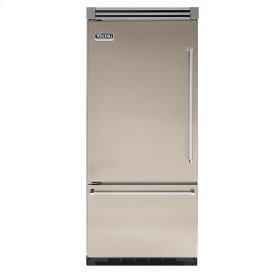 "Taupe 36"" Quiet Cool™ Bottom-Mount Refrigerator/Freezer - VIBB Tru-Flush™ (Left Hinge Door)"