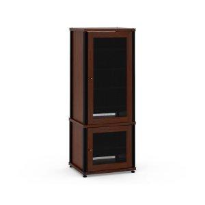Salamander DesignsSynergy Solution 603, Quad-Width AV Cabinet, Walnut with Black Posts