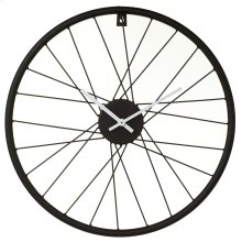 Black Bike Wheel Wall Clock.