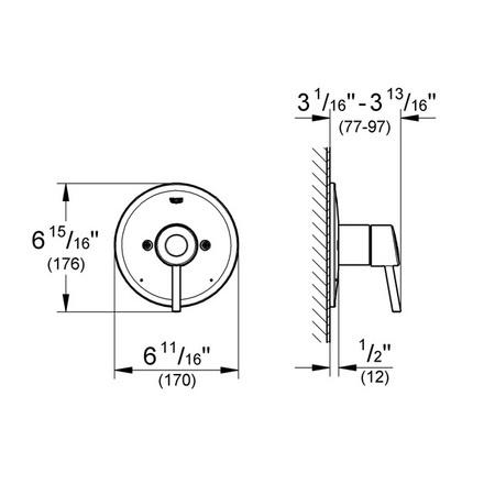 Additional Infinity Brushed Nickel Pressure Balance Valve Trim