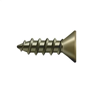 "Wood Screw, Steel, #12 x 3/4"" - Antique Brass"