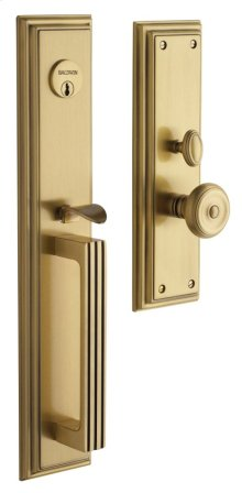 Satin Brass and Brown Tremont Entrance Trim