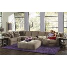 Armless Loveseat - Taupe Product Image