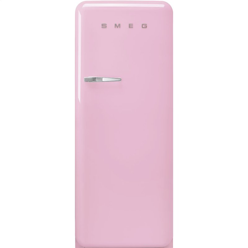 "24"" retro-style fridge, Pink, Right-hand hinge"