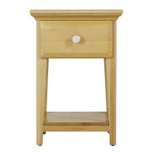 1 Drawer Night Stand w/ Shelf - Two Tone