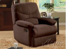 Brown Finish Microfiber Recliner