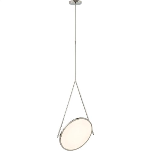 Visual Comfort PB5005PN Peter Bristol Dot Stance LED 16 inch Polished Nickel Pendant Ceiling Light
