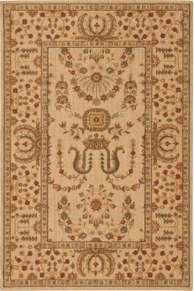Hard To Find Sizes Grand Parterre Pt02 Beige Rectangle Rug 4' X 6'