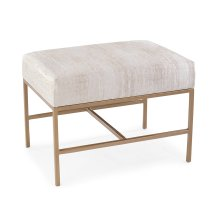 Fontanne Gold Upholstered Ottoman