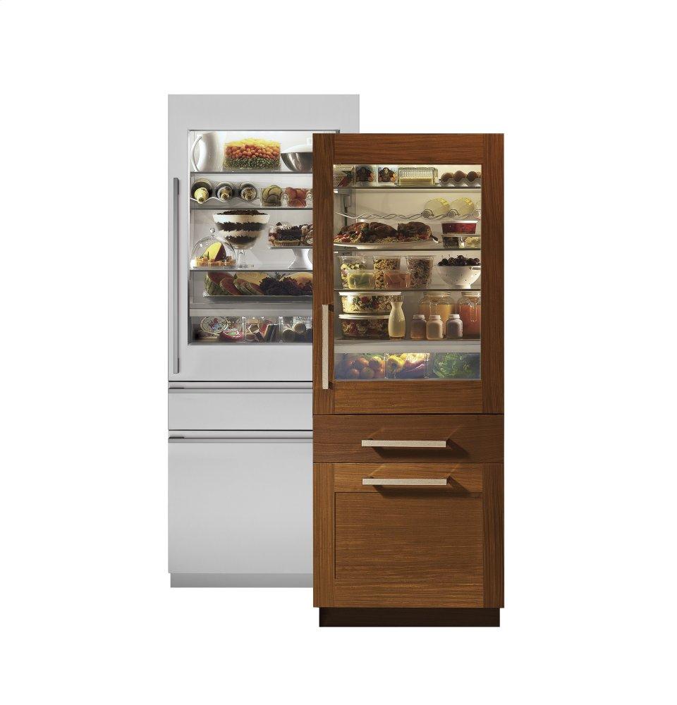"MonogramMonogram 30"" Integrated Glass-Door Refrigerator For Single Or Dual Installation"