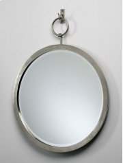 Round Hanging Mirror Polished Chrome Product Image