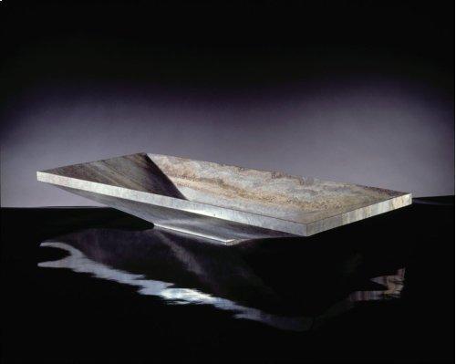 Verona Vessel Sink, 36 Silver Travertine
