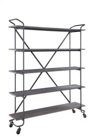 "Emerald Home Quincy 60"" Bookshelf W/5 Shelves, Antique Grey Ac415-60 Product Image"