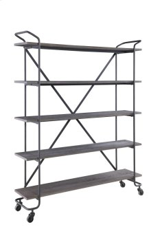 "Emerald Home Quincy 60"" Bookshelf W/5 Shelves, Antique Grey Ac415-60"