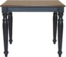 Solid Top Table Aged Ebony & Espresso
