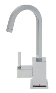 Hot Water Faucet with Contemporary Square Body & Handle - Brushed Nickel