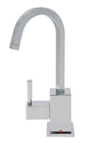 Hot Water Faucet with Contemporary Square Body & Handle - Brushed Nickel Product Image