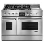 "JENN-AIRPro-Style(R) 48"" Gas Range with Griddle and MultiMode(R) Convection"
