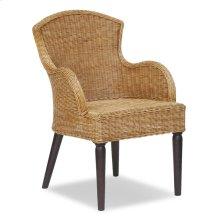 (LS) Brockton Side Chair Low Back w/ Dark Wooden Legs (21x24x33)
