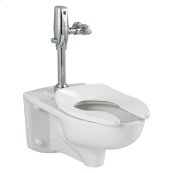 Afwall 1.6 gpf Toilet with Selectronic Exposed Battery Flush Valve System - White