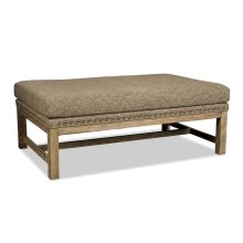 Cocktail Ottoman with Stretcher Base