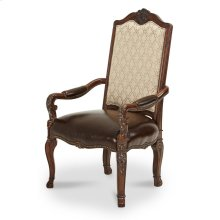 Leather Seat Arm Chair