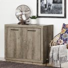 Small 2-Door Storage Cabinet - Weathered Oak Product Image